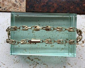 Princess of Piura-   Lattice Chain Bracelet 10K Gold