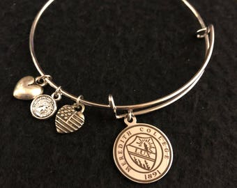 MEREDITH COLLEGE STRONG adjustable wire wrap bangle