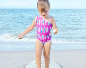 Surf board swim suit