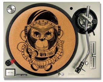 Turntable Slipmat - Space Monkey Cork turntable mat - DJ Slip mat