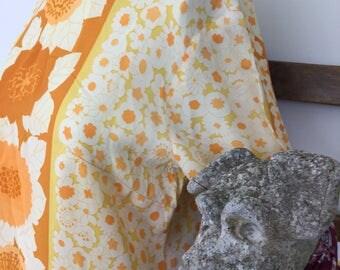 1960s sunshine yellow tunic by Alex Coleman California size14