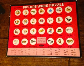 Vintage Picture Word Puzzle - Help Yourself