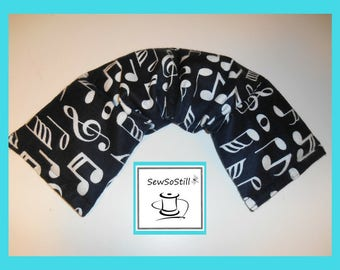 Microwavable Heating Pad, Neck Warmer, Rice Heating Pad, Flax Seed Heating Pad, Black White Music Notes, Sunny Heat Pack
