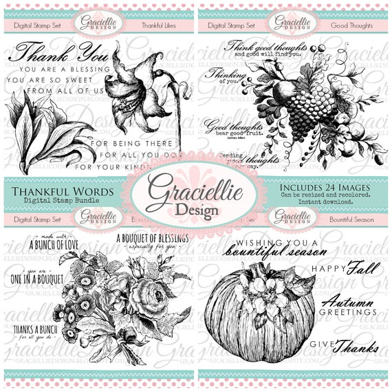 Graciellie Design Thanksful Words digi bundle