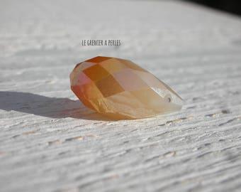 Pearl drop 20 mm Light Jade gold x 1