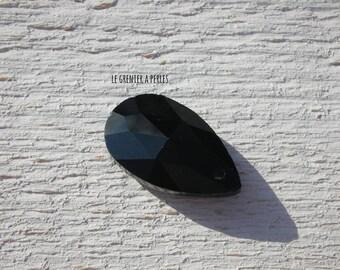 Pearl drop 22 x 12 mm black