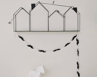 Fabric Garland with mustaches