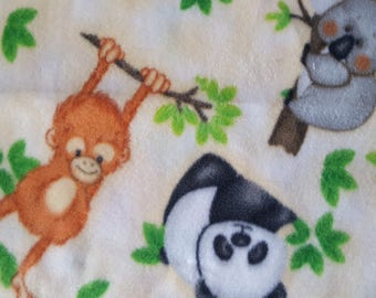 Jungle Animals Fleece Fabric (30 inches)
