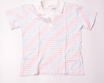 Vintage Playboy 90s Glitter Polo Shirt
