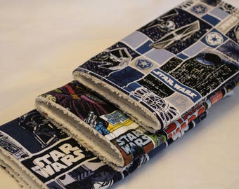 Star Wars Burp Cloths Set of 3, Burp Rags, Burp Cloths, Baby, Star Wars, Star Wars Burp Cloths, Baby Shower Gifts, Baby Boy Burp Rags