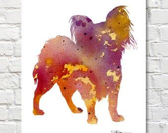 Papillon Art Print - Abstract Watercolor Painting - Wall Decor