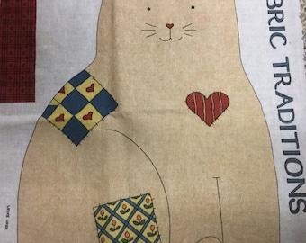 SUSAN WINGET Kitty Craft Panel! So Cute!! Vintage!!