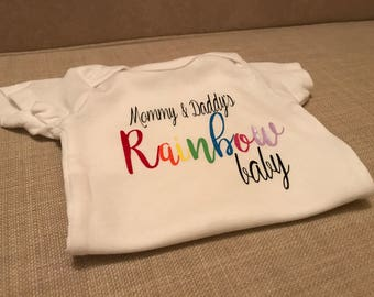 Mommy and Daddy's Rainbow Baby Onesie