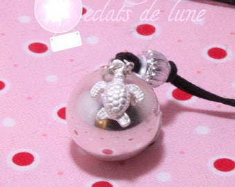 Pregnancy's Bola genuine 925 sterling silver turtle charm and rhinestone