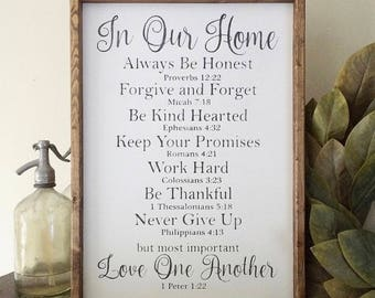In our home sign