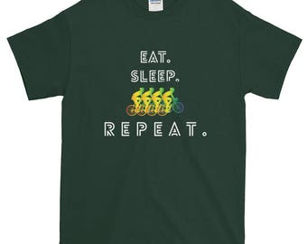 Cycling Eat Sleep Repeat Gay Pride Short-Sleeve T-Shirt