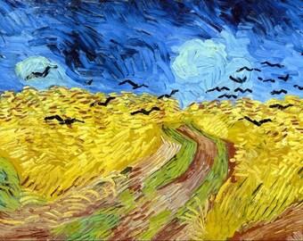 "Van Gogh landscape/Wheatfield with crows""placemat"
