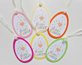 Easter gift tag etsy set of 6 easter gift tageaster bunny favor tag easter decoration negle Choice Image