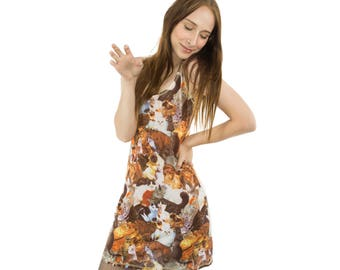 Vintage Cat Dress 90s Mesh Mini Dress 90s Grunge Mini Dress 90s Tripp NYC 90s Slip Dress 90s Rave dress Vintage Clubwear Vintage Novelty