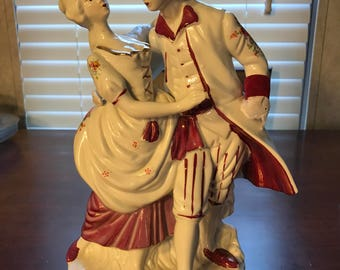 Victorian couple waltzing
