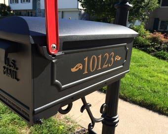 Mailbox Numbers Vinyl Decal Set:2 Vinyl Number Decals- Vinyl House Numbers- House Number Decals-Exterior Grade Address Stickers- Mail Box