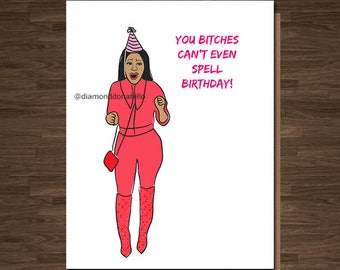 Funny Birthday Card, Birthday Card, Nicki Minaj, Birthday Card for Her, Funny Birthday Card for Her