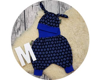 Harem pants, pants, baby pants, baby, Mitwachsen pants, baby Kit, newborn, gift, bloomers, hat, node hat, Star, Star, stars, blue, Navy