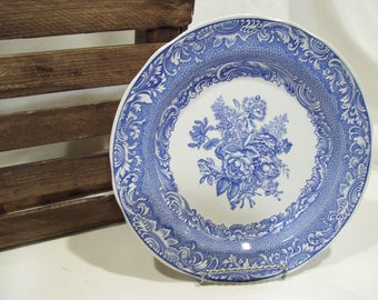 Spode Bryon Group,Spode Archive,Spode Plate,The Blue Room Collection, Spode China,Blue Transferware,Blue Flowers
