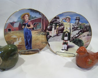Shirley Temple Sunny Brook Farm OR Wee Willie Winkie Collectors Plate Movie Star Plate