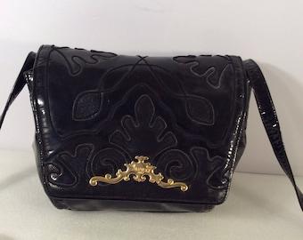 Vintage Sharif patent leather bag