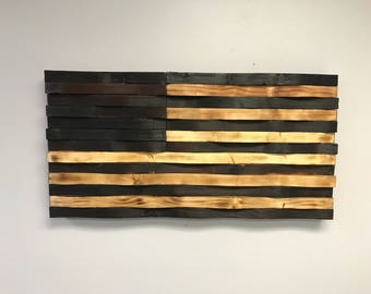 Rustic torched American Flag