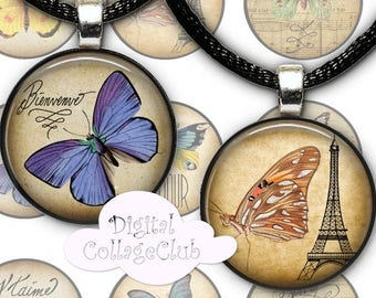 80 % off Graphics SaLe Sweet Vintage Butterfly Bottle Cap Bottlecap Images for Jewelry. 1 Inch Round Circle Digital Printable Images