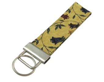 Key Chain / Key Fob Colonial Floral With Optional Initials