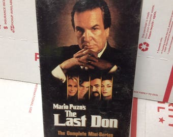 Mario Puzo's The Last Don VHS tapes complete mini series sealed