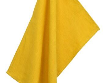 Tea towel 100% linen mustard 50x70cm