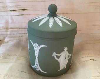 Wedgewood Jasperware Sage Vanity Jar