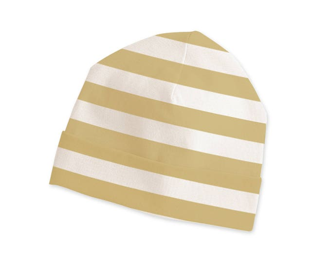 Baby Hat, Newborn Beanie, Unisex Baby Hat, Boy & Girl Beanie, Yellow Stripes, TesaBabe CP630IM000000