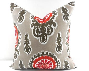 SALE Grey Pillow Cover. Indoor. Outdoor.  stain & dirt resistant Decorative pillow case. Select your size