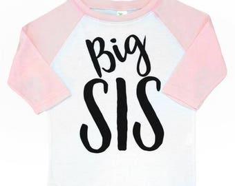 Big Sister tshirt big sis tshirt, little girl big sister shirt, pregnancy announcement big sister t shirt sibling tshirt pregnancy sister