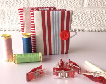 Red Patchwork Needlebook  Needle holders, Needle Case, Gift for Sewers, Needle storage, Under a Tenner