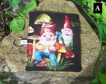 Gnome Business Card Holder Wallet  - Gnome Toadstool Fairy Forest - Credit Card Money Purse