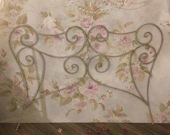Art Nouveau wrought iron bed