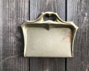 Manning - Bowman & Co. Brass Tone Metal Dust Pan/Crumb Catcher