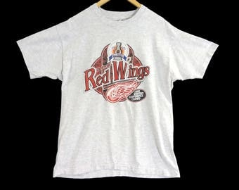VTG 1995 Detroit Red Wings T-Shirt - Large - Redwings - Michigan - Hockey - NHL - 90s Vintage Tee - Vintage Clothing -