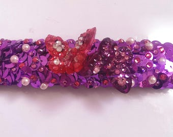 """Bracelet Fuchsia and violet Collection """"A love of Butterfly"""""""