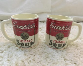 Set of 2 Vintage 70s Campbell's Soup Coffee Mugs