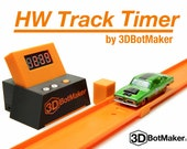 3DBotMaker HW Track Timer - 1:64 Diecast Timing System for Hot Wheels Orange Track