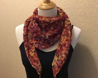 Crocheted Scarf - multi-color
