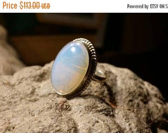 Holiday SALE 85 % OFF Opal Gemstone Gemstone 925 Sterling Silver Size 7