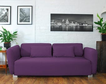 Slip cover to fit the ikea Mysinge 2 seat sofa PURPLE
